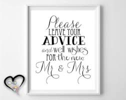 advice cards for and groom wedding advice etsy