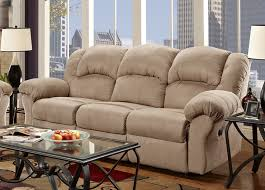 Microfiber Recliner Sofa by Roundhill Furniture