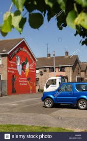 a mural on the side of a house in free derry in remembrance of