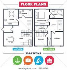 floor plan scales architecture plan furniture house vector photo bigstock