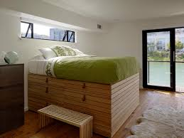 How To Make Floating Bed by Bedroom Unique Wooden Frame With Oversized Headboard Platform