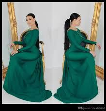 2016 emerald green long sleeve mermaid evening dresses wear bateau