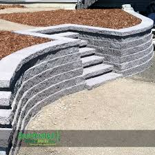 Ideas For Retaining Walls Garden by Grey Concrete Versa Lok Retaining Wall With Steps Added For Easy