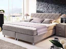 Schlafzimmer Bett Mit Komforth E Boxspringbett Bronze In Grau Stoff Und Betten U0026 Hochbetten G Nstig