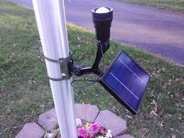 solar led flagpole light commercial solar flagpole light ultra series cree fixed head
