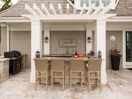 backyard bar with pergola and stools relaxing outdoor backyard