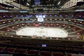 United Center Floor Plan Chicago United Center Blackhawks View From Section 334 Row 7