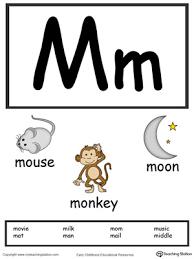 letter m alphabet flash cards for preschoolers myteachingstation com