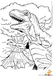 tyrannosaurus rex coloring page free download
