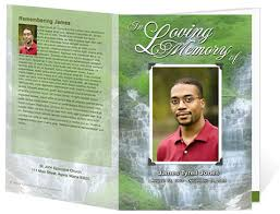 Funeral Programs Online Examples Of Funeral Programs Waterscape Theme