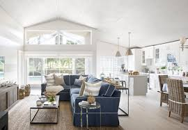 cottage open floor plans coastal cottage with whitewashed ceiling home bunch interior