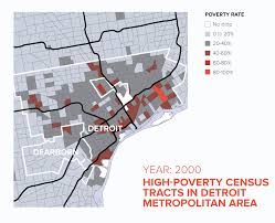Metro Detroit Map by Concentrated Poverty Spikes In Metro Detroit