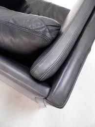 Navy Blue Leather Club Chair Vintage Danish Navy Blue Charcoal Leather Club Armchair Midcentury