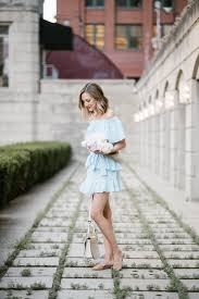 off the shoulder ruffle dress topshop summer look trend