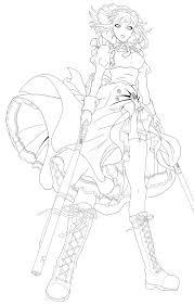 mey rin lineart by meya san on deviantart