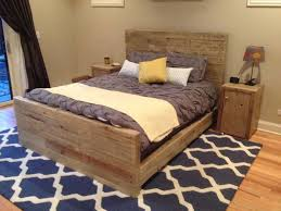 Grey Queen Size Bedroom Furniture Furniture Reclaimed Wood Queen Size Bed With Headboard And Double
