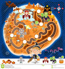 halloween game background halloween game assets map stock vector image 57764207