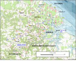 Va County Map Of Westmoreland County Va Showing The Location Where The