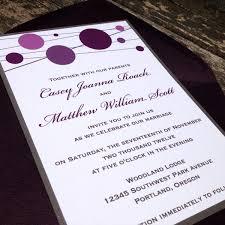 Purple Wedding Invitations Purple Wedding Invites Bitsy Bride