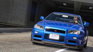 nissan skyline fast and furious 7 nissan skyline gt r bnr34 add on gta5 mods com