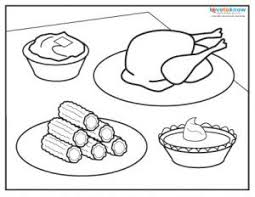 thanksgiving dinner coloring page food drink and cooking coloring
