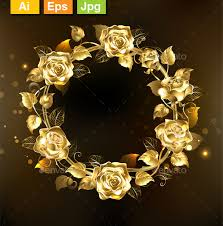 gold roses wreath of gold roses by blackmoon9 graphicriver