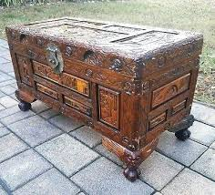 hand carved coffee table asian carved coffee table vintage carved chor wood trunk chest