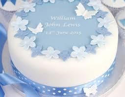 christening cake ideas personalised boys christening cake decorating kit clever
