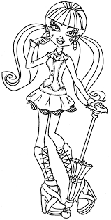fresh monster coloring pages draculaura 30 picture