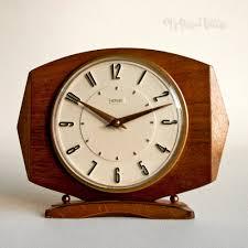 clock made of clocks vintage retro metamec teak clockwork mantle clock made in england