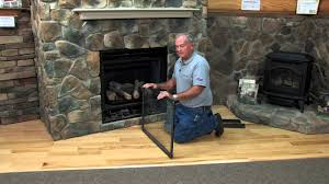 clean glass fireplace doors direct vent gas fireplace maintenance youtube