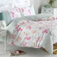 Shabby Chic Floral Bedding by Double Pink Floral Designers Shabby Chic Duvet Set