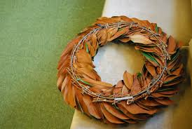 Wreaths Wholesale Decor Dried Magnolia Wreath With Bay Leaf Wreaths Wholesale And