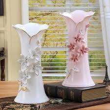 floor vases home decor ceramic white pink flowers vase home decor large floor vases for