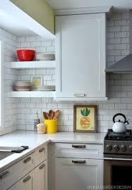 Kitchen Cabinets Open Shelving Kitchen Design White Subway Tile Backsplash Ideas Interesting