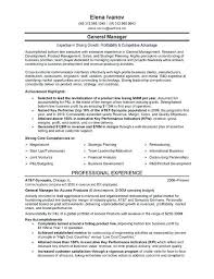 senior level resume samples senior level manager main sample page