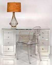 useful mirrored office desk in interior design ideas for home