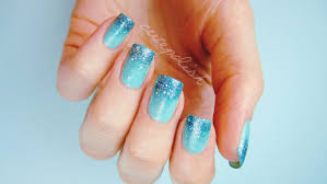 prom nails perfect glitter ombre diy youtube