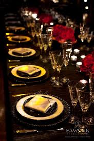 Red And Gold Reception Decoration Best 25 Red Table Settings Ideas On Pinterest Christmas Table