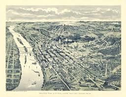 Map Of St Paul Mn Vintage Map St Paul Minnesota 1893 30 00 Via Etsy Maps