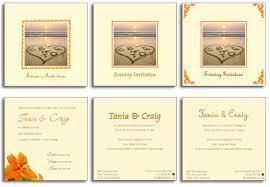 Beach Theme Wedding Invitations Beach Theme Wedding Invitations Tania And Craigs Personalised