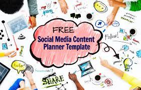 social media planner free social media content planner template