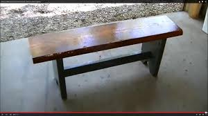 Rustic Bench Coffee Table How To Make And Stain A Rustic Bench Trick To Control Cupping