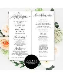 simple wedding program hot sale wedding program template wedding