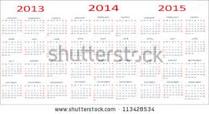 calendar classic templates years 2013 2015 stock vector 113106736