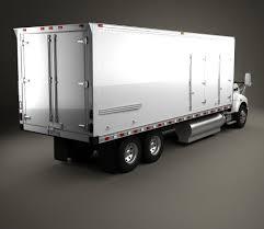 2009 kenworth truck kenworth t440 refrigerator truck 3 axle 2009 3d model hum3d