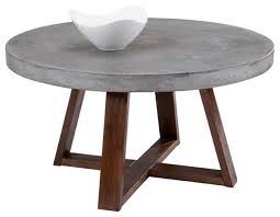 coffee table sunpan devons rustic concrete round coffee table