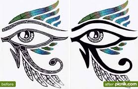 collection of 25 eye of ra design