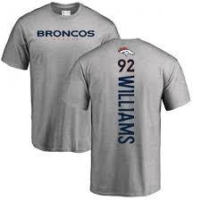 sylvester t shirt williams denver broncos men s pro line backer t shirt ash