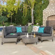 navagio outdoor 5 piece wicker sofa set with cushions by